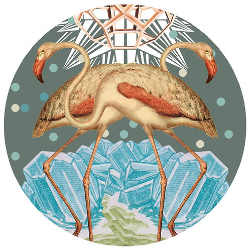 Flamingos - Sold as individual coaster.