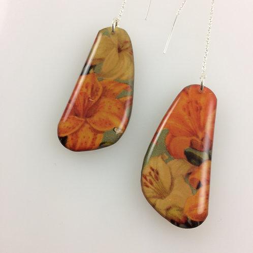 Garden & Art Nouveau - Double sided drop earrings
