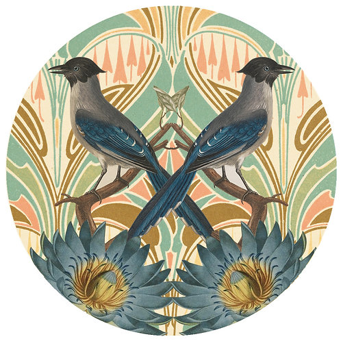 Blue Bird - Sold as individual coaster
