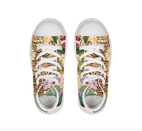 Tiger Little Kids Hightop Canvas Shoe