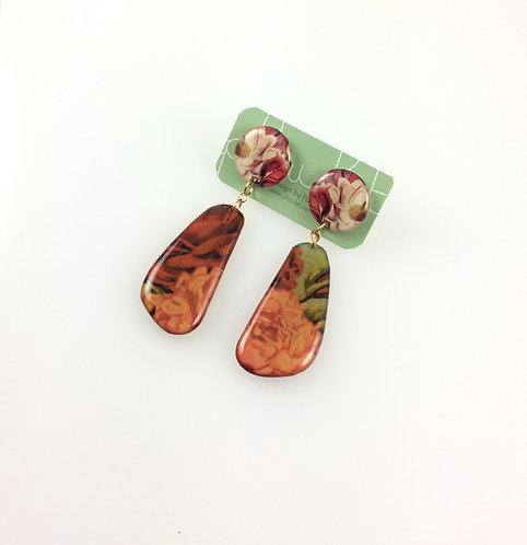 Garden - Double sided drop earrings