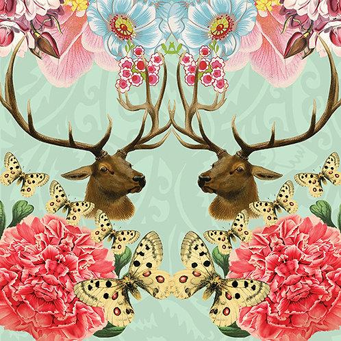 Elk & Butterflies
