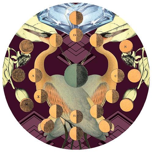 Birds & Moons - Sold as individual coaster.