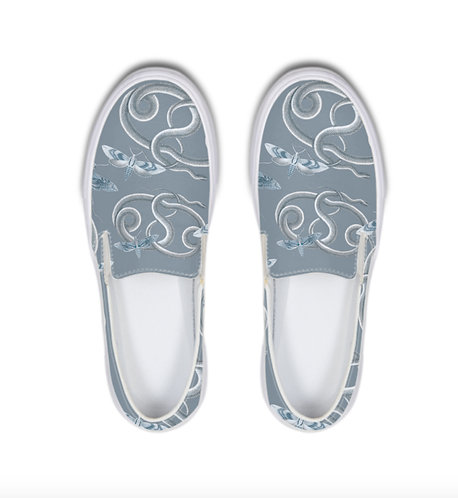 Blue snakes Slip-On Canvas Shoe