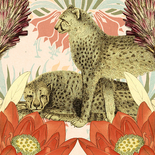 Cheetah - Sold as individual coaster.