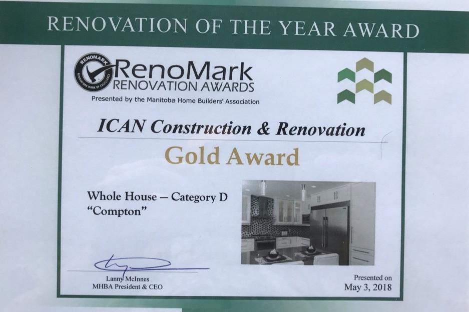 RenoMark Gold Award