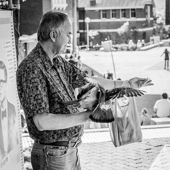 The Bird Man of Northbridge. Professional Portrait photo. photography. photo. photography. Sevs Pics. Perth Photographer