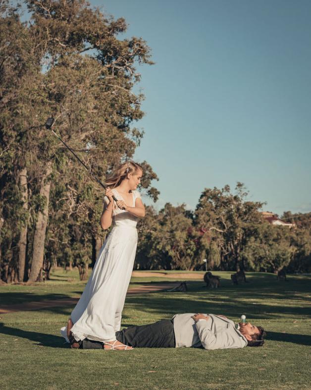 Unique wedding shot