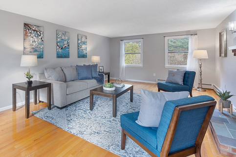 Using blue as a neutral to bring brightness into a space