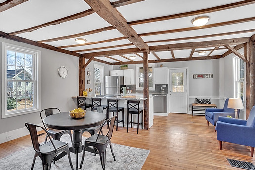Interior Design Home Staging Historic Dining Eat In Kitchen Beam