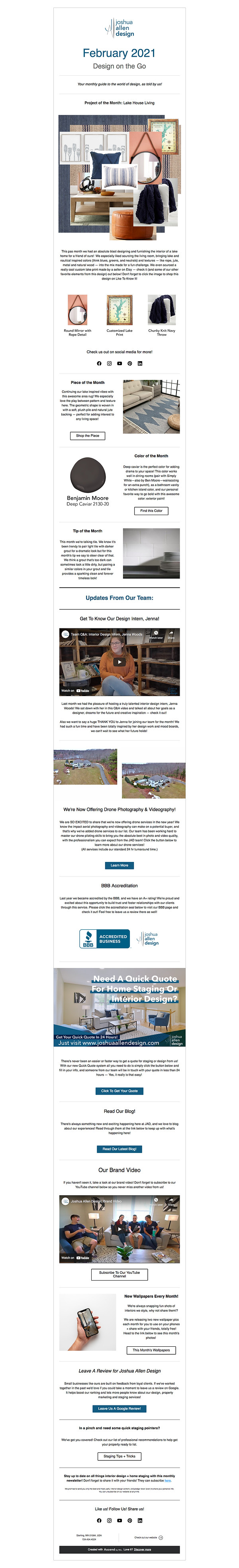 February 2021 design on the go newslette