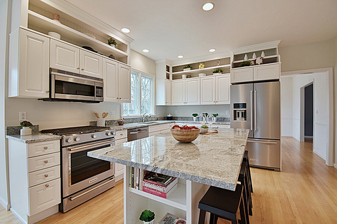 Kitchen With Upper Cabinets Added By JAD