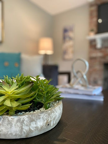 Joshua Allen Design - Interior Design - Property Staging - Photography - Massachusetts - Worcester County - New England - Decor - Plant - Table Decor - Succulent - Home Office
