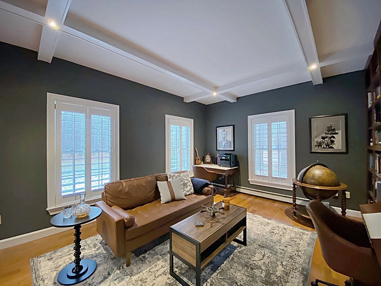 Joshua Allen Design - Interior Design - Property Staging - Photography - Decor - Massachusetts - Worcester County - New England - Brown Couch - Antique Modern