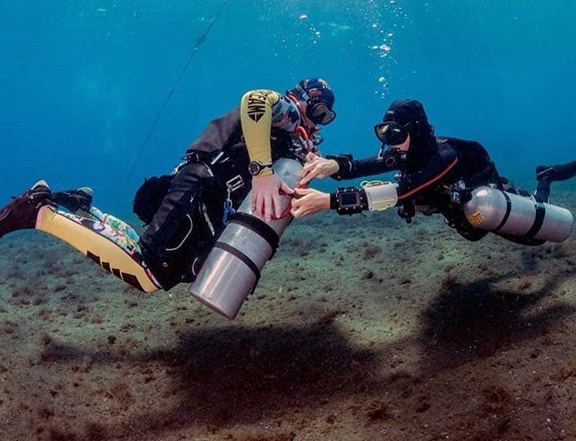 Women in Technical dive training