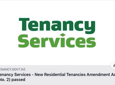 New Tenancy Amendment Act (No. 2) Passed