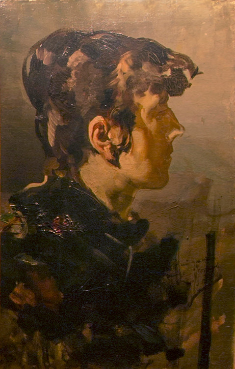 Lo nunca visto de J.Sorolla, en Bretún.  Perfil de Joven, 1887. (Parte I)