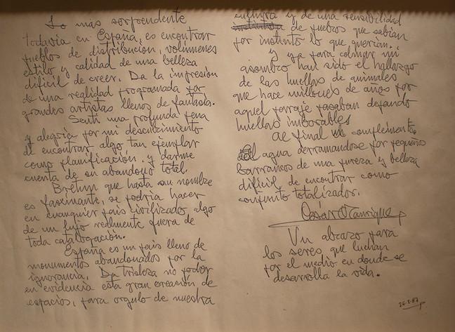 Carta a Bretún de César Manrique