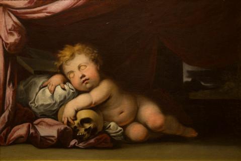 Nuevas obras para visitar en la Fundación, Niño Jesús dormido sobre la cruz de MURILLO.