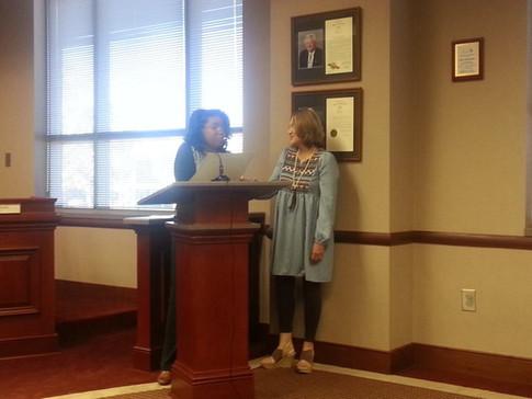 Deana Accepts Proclamation