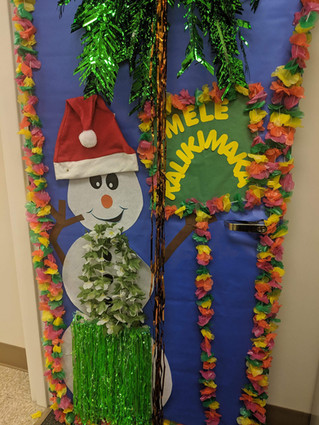 Christmas Door Hawaii