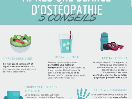 5 conseils à suivre après une séance d'ostéopathie