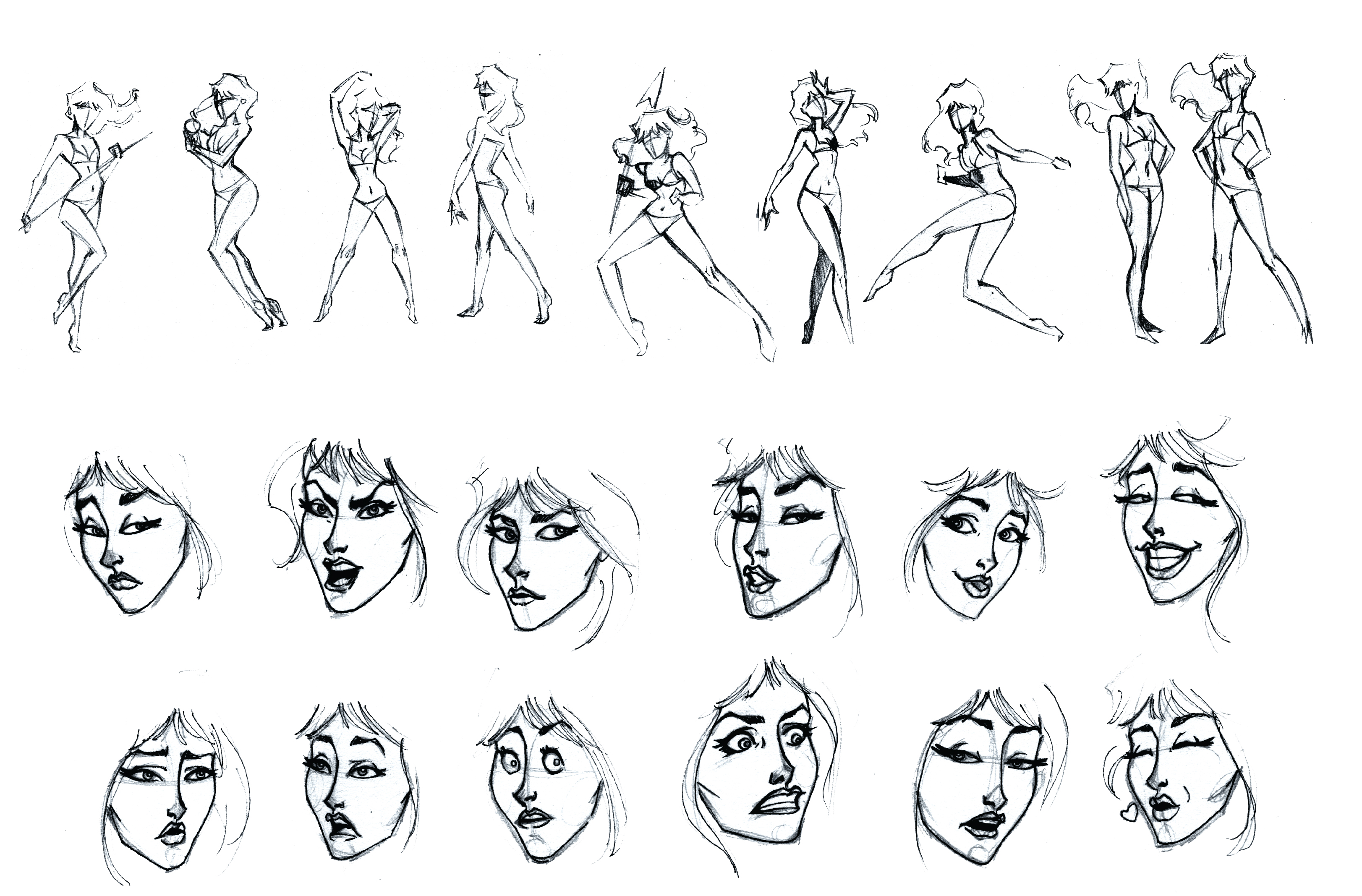 Emille action/expression sheet