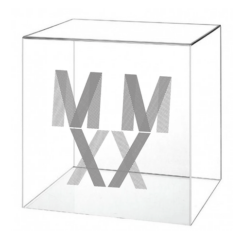 MMXX PRINTED PLEXIGLASS BOX (EMPTY) - LIMITED EDITION