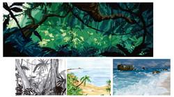 jungle/beach environment design
