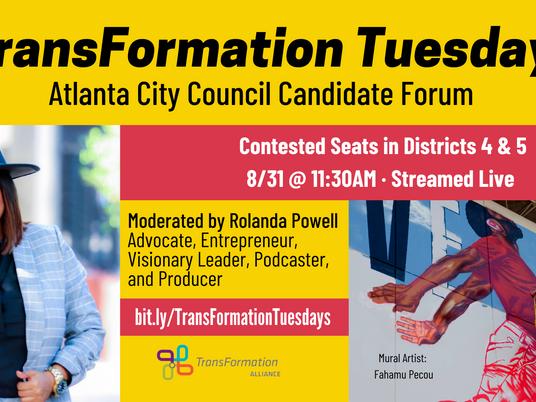 LGBTQ Atlanta's own Rolanda Powell is interviewing Atlanta City Council candidates