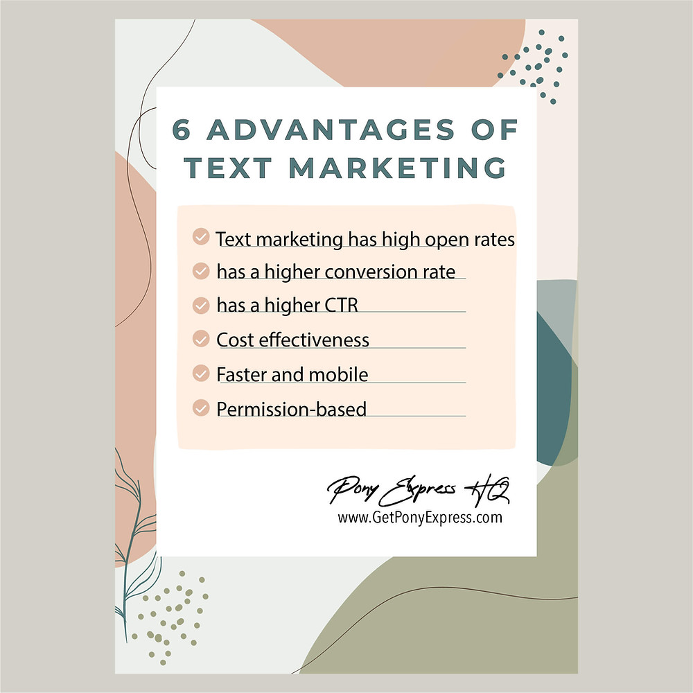 6 Advantages of Text Marketing | Pony Express HQ