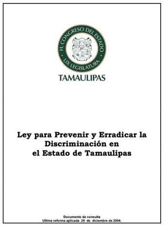 Ley para Prevenir y Erradicar la Discriminación