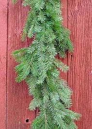 Balsam fir garland