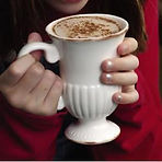 Hot chocolate or cider to warm up