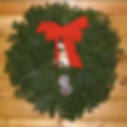 Traditional Christmas wreath wih red bow