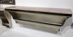 64045 Urbano Wall Shelf with Removable Wood Top