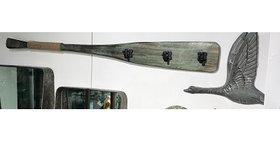 74030 BOAT Oar Triple WALL HOOK-Greenwashed