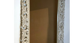 60081 Carved Wood Rectangle Wall Mirror