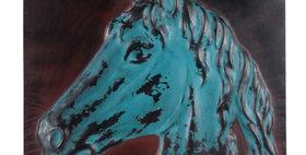 694285 Wall Decor (Horse) MTL blu