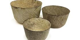 69005 Set of 3 Round Pots