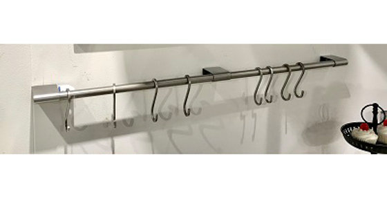 64034 Maxim Wall Towel Bar with 8 Hooks -Brushed Nickel