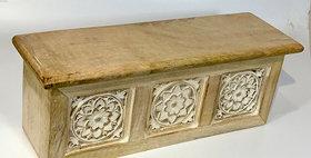 60051 Carved Wood Wall Shelf