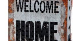 695511 Welcome Home  Lighted Dcr M