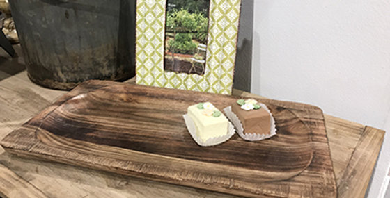 72014 Wooden Rectangle Serving Tray