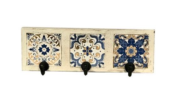 79049 Azulejos WW 3-Hook Tile Wall Rack