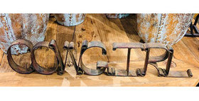 10160 COWGIRL Cutout Sign-Rust-51137