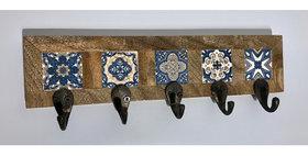 79014 Azulejos 5-Hook Wall Rack