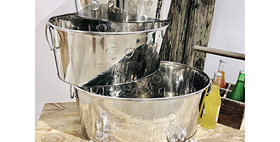 52028 Set of 3 Cold Drink Tubs-Chrome