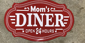 64023 Moms Diner Red Sign