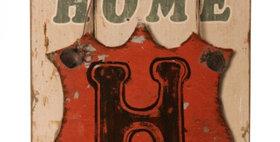 694116 H HOME WALL DECOR-WOOD
